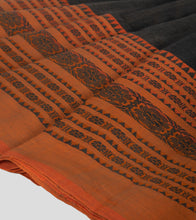 Load image into Gallery viewer, Wood Bark Brown Begumpuri Cotton Saree-Border