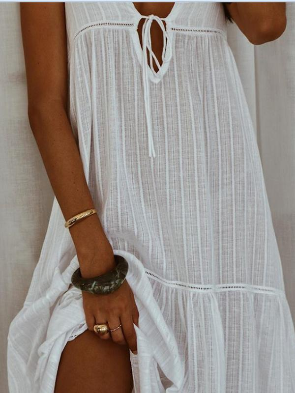 Casual Sleeveless  Long Dress