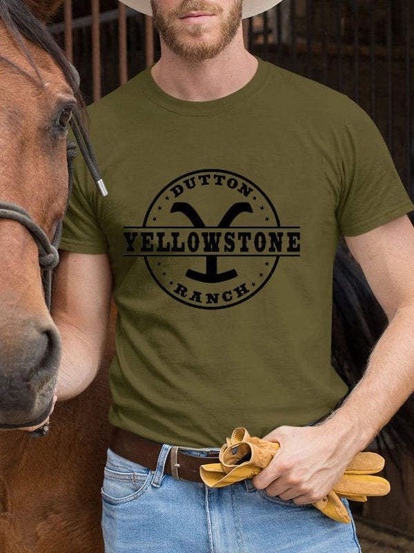 Men's Yellowstone Dutton Ranch printed T-shirt