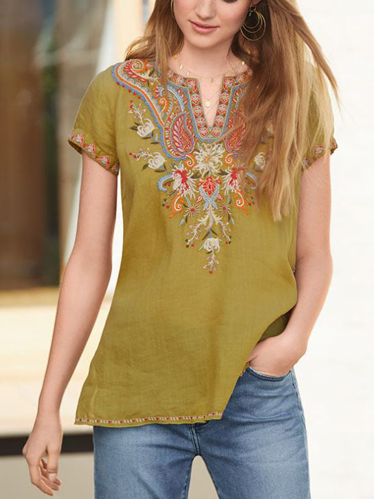 FASHION LOOSE SWING BLOUSE