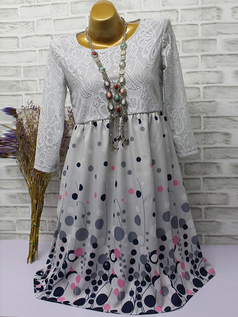 Half Sleeve Cotton-Blend Dresses