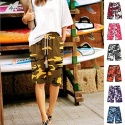 Yellow Cotton-Blend Casual Color-Block Pants