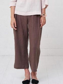 Women's Soft Causal Loose Cropped Pants