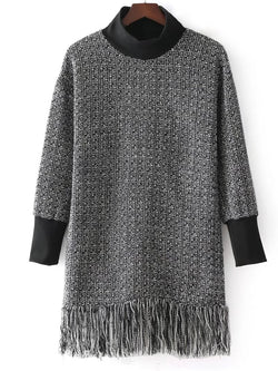 Woolen  Tassel Sweet Turtleneck Fall Sweater