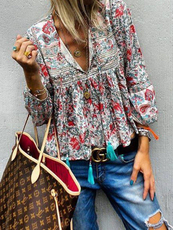 Wome Floral Loose Blouse