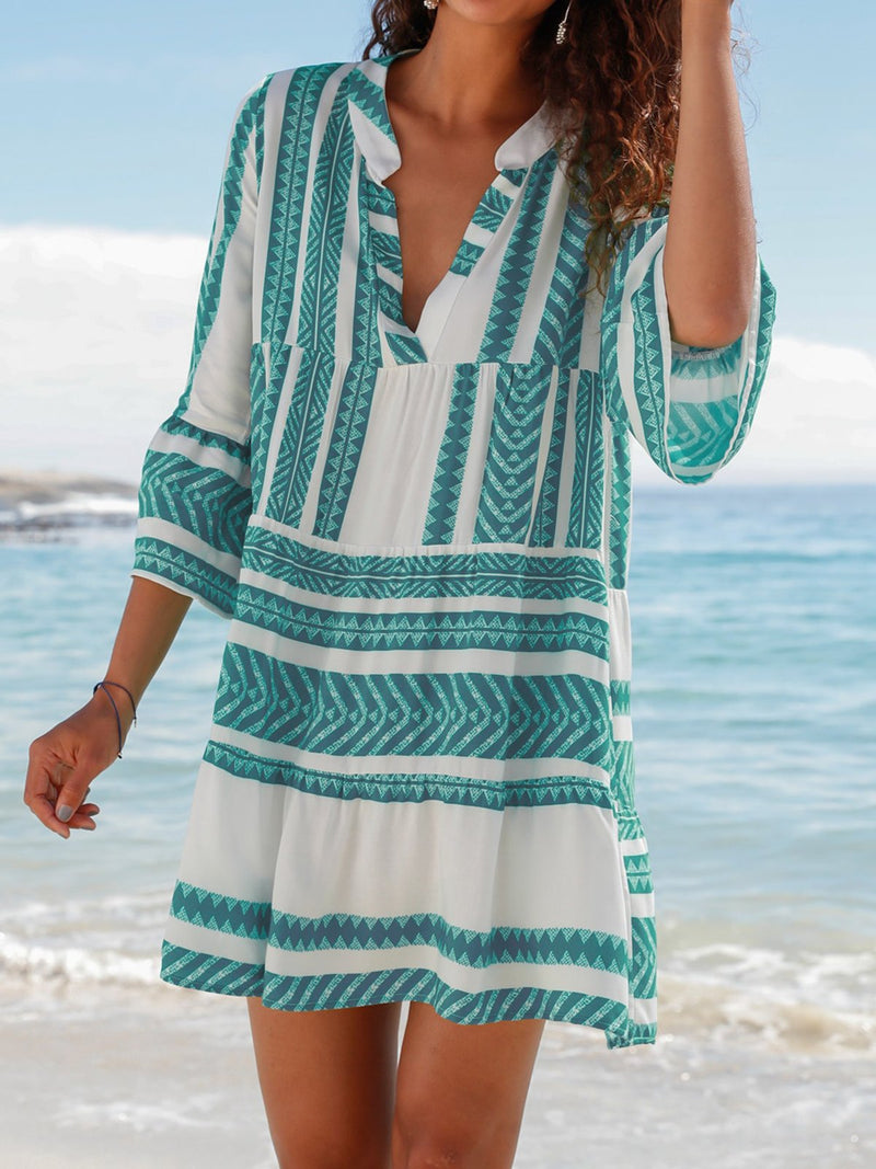 V Neck Women Dresses Going Out Beach Tribal Dresses