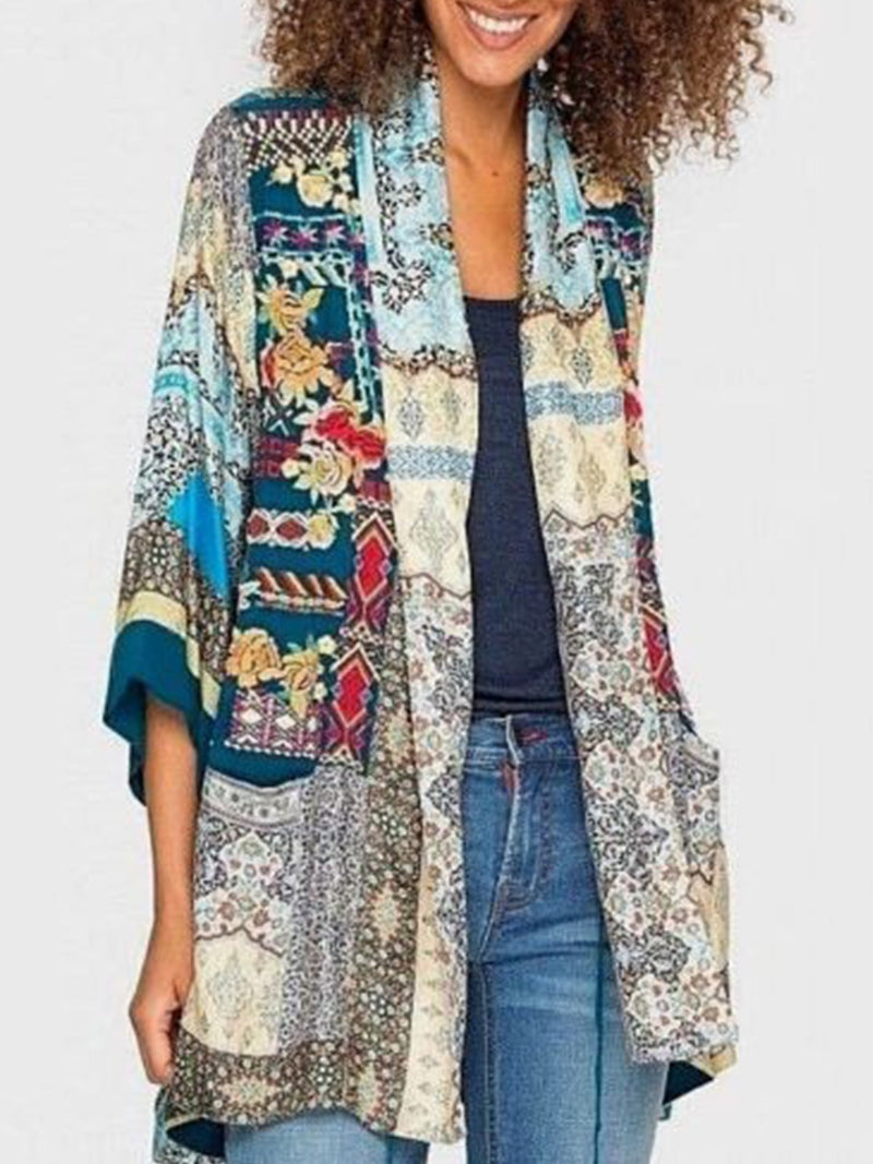 Long Sleeve Statement Printed Outerwear