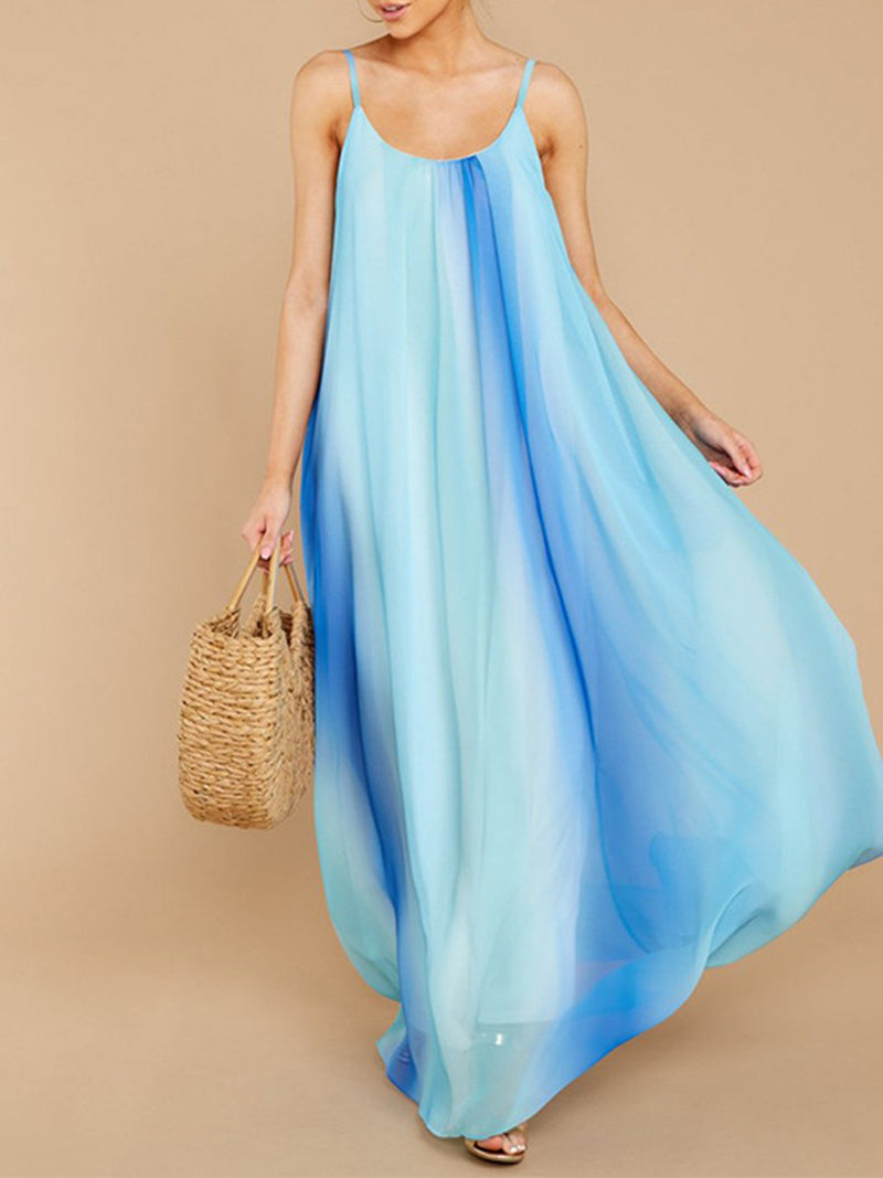 Spaghetti Lightblue Women Dresses Beach Dresses