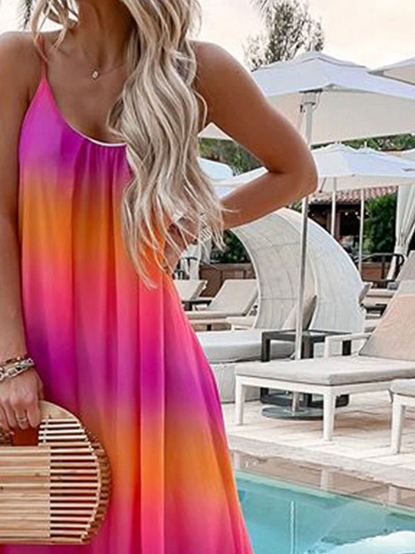 Women summer Sleeveless Maxi Dresses