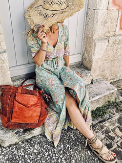 Bohemian Short Sleeve Skirt dresses