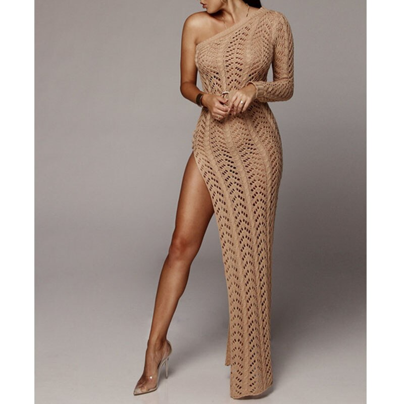 Knitted Beach Dress Beach Cover up