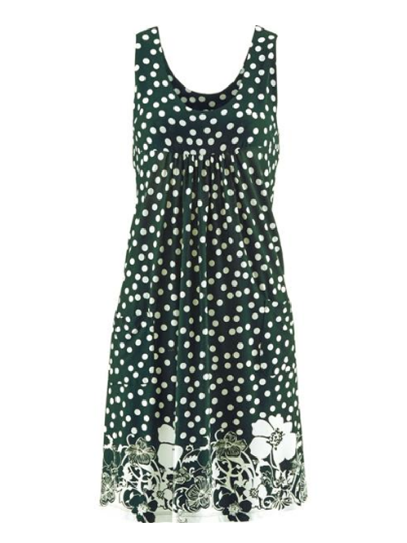 Polka Dots Floral Beach Women Summer Dresses With Pockets