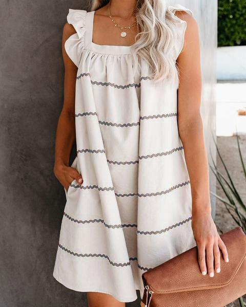 Ruffled Casual Cotton Dresses