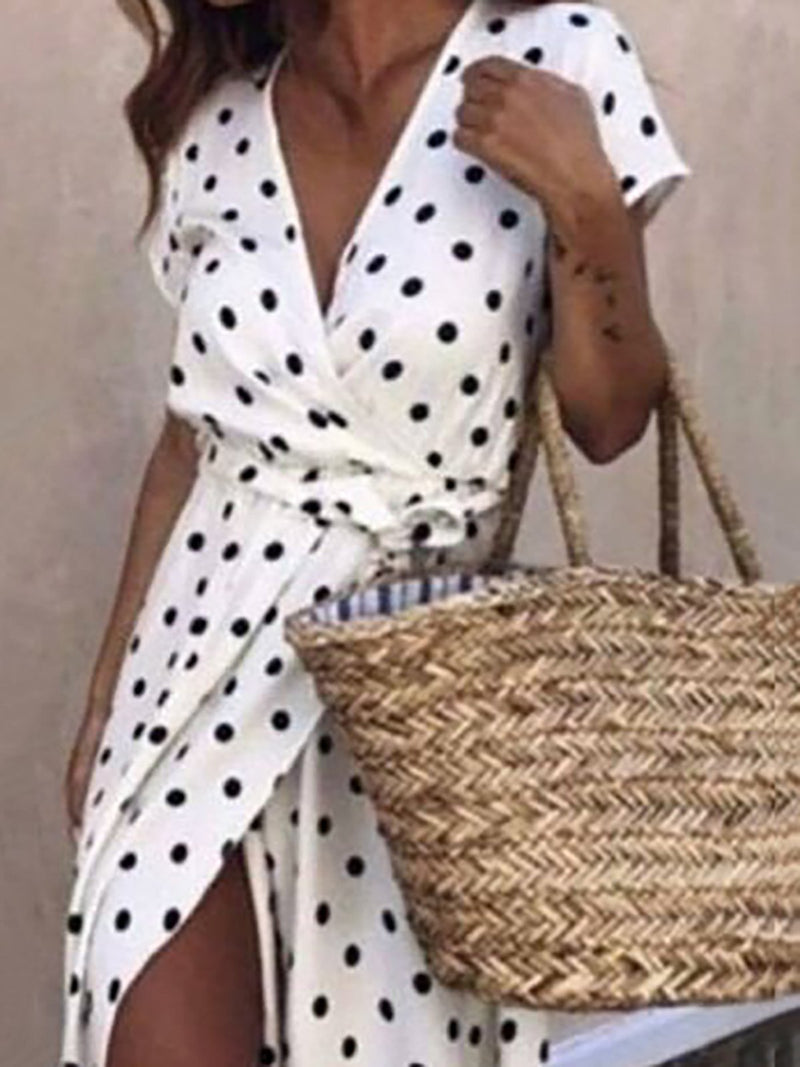 Polka Dots Boho Casual Dresses
