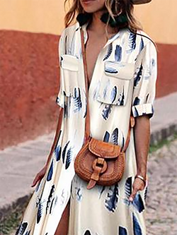 Women Shawl Beach Pockets Floral Dresses