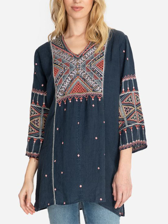 Fashion v neck tunic