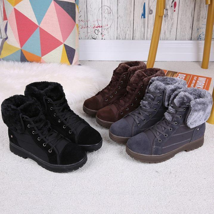 Women's Boots Low Heel Black Casual Boots