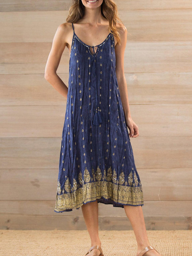 Sleeveless Printed Cotton-Blend Dresses