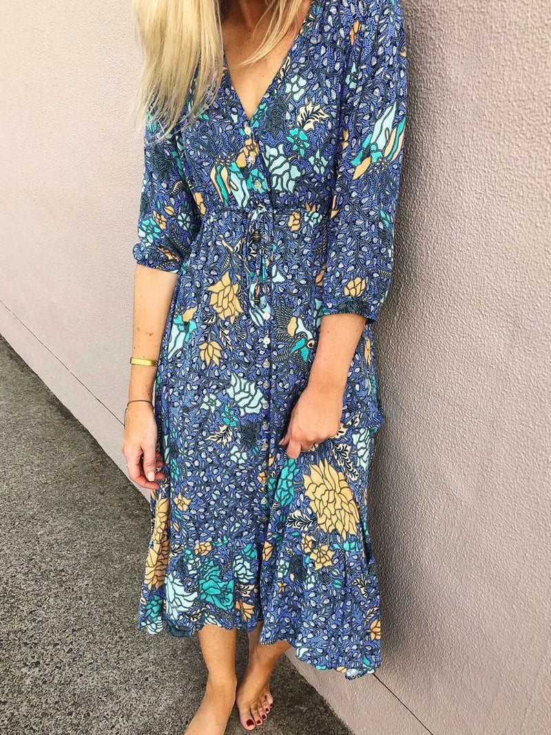 Casual Shift Floral-Print Dresses