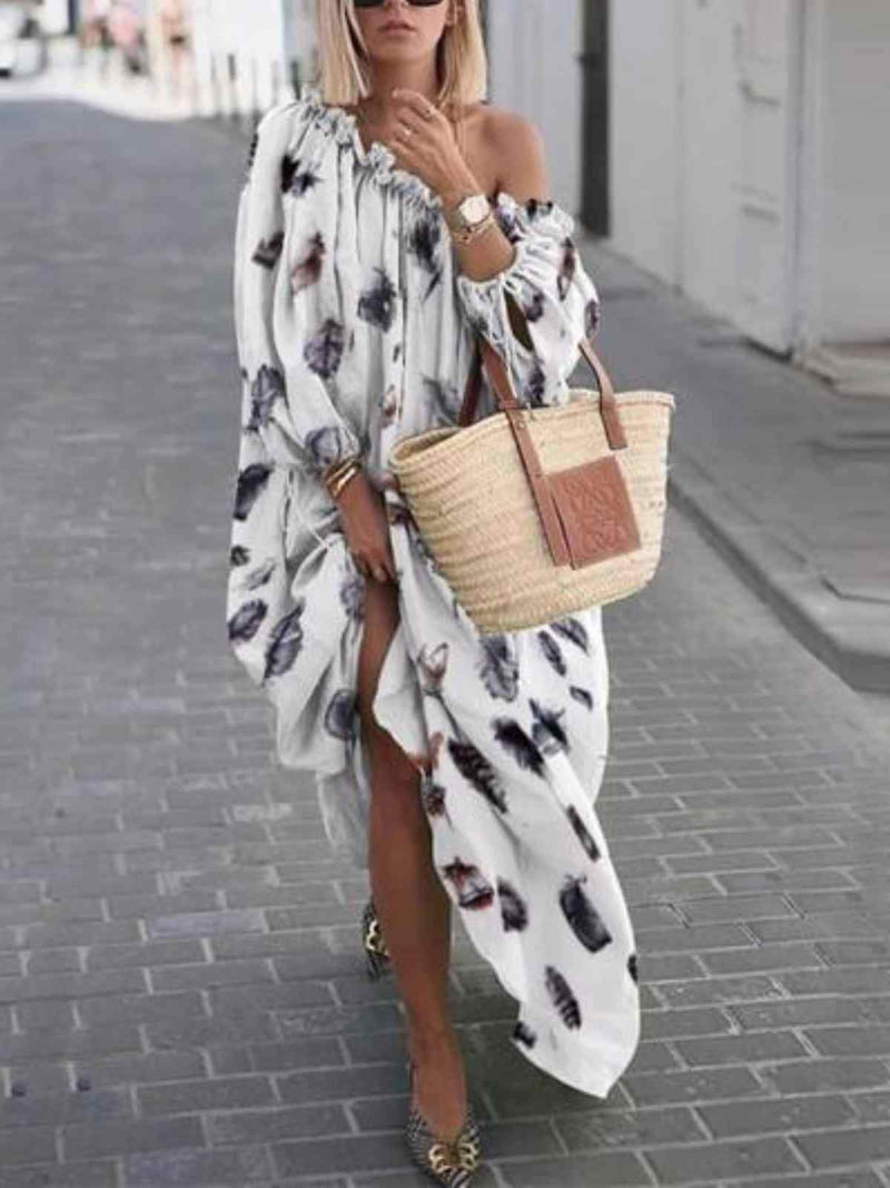 Casual Cotton-Blend 3/4 Sleeve Dresses