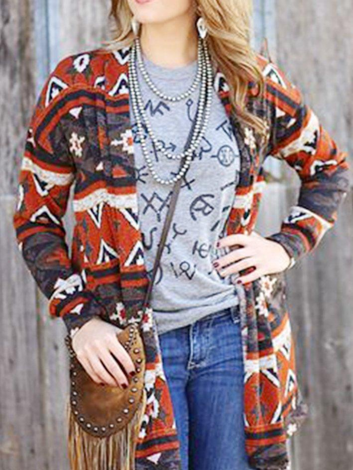 Shift Tribal Vintage Knitted Cardigan