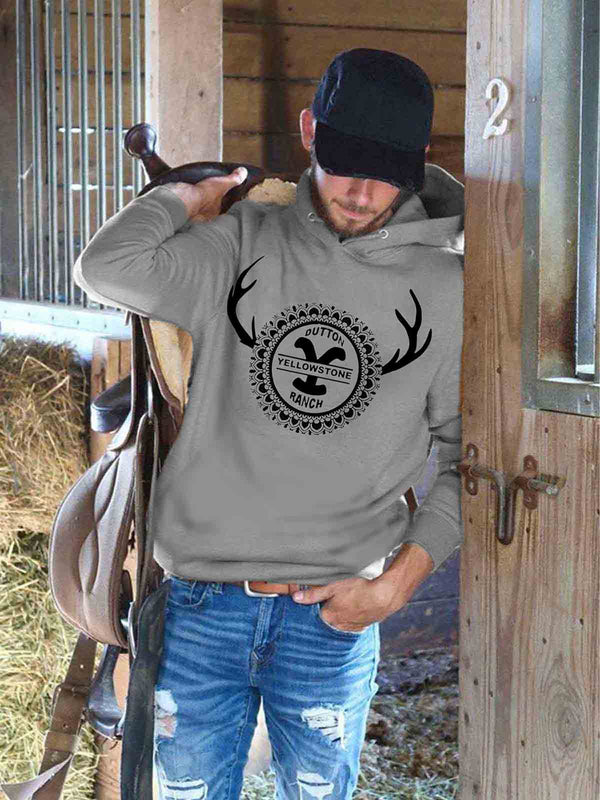 Men's Yellowstone Dutton Ranch Comfort Hoodie