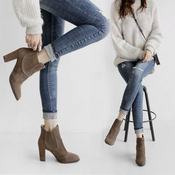 Womens Spring/Fall Casual PU Martin Boots