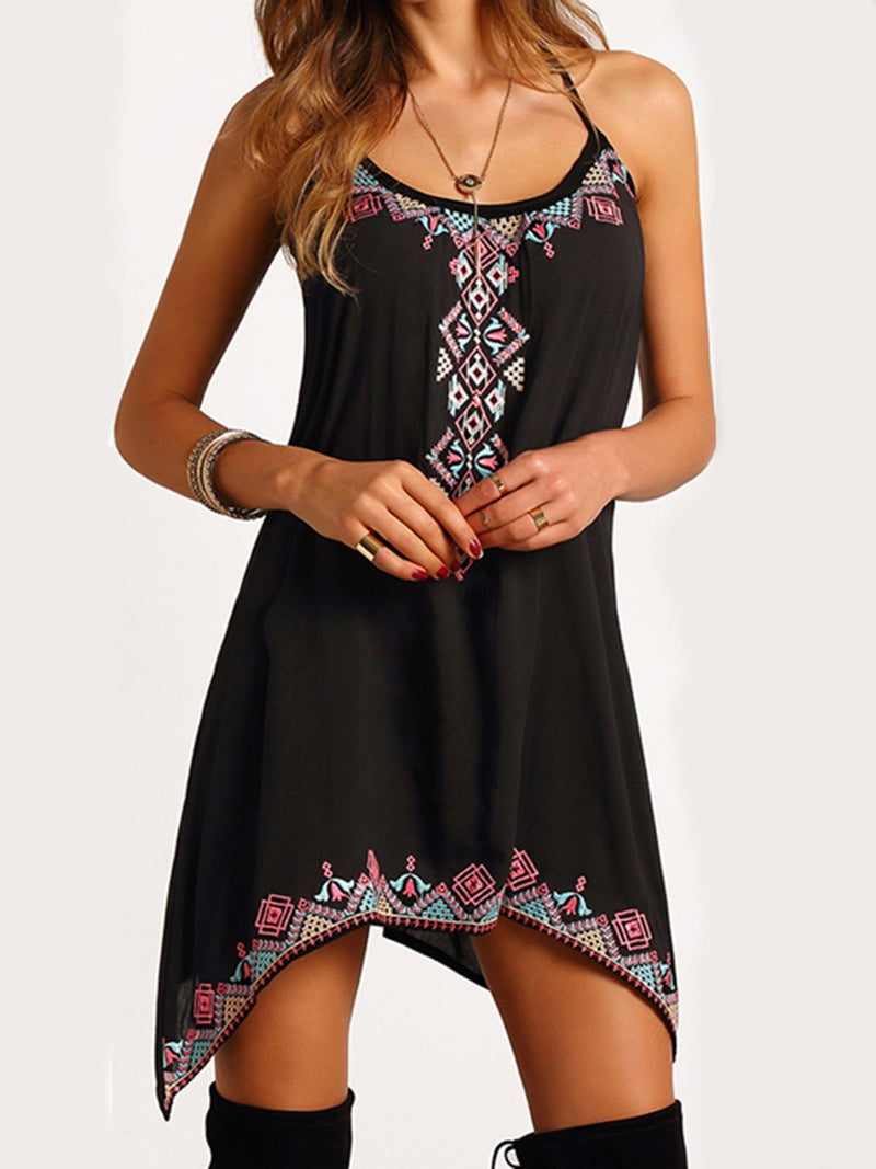 Women Asymmetrical Boho Printed Dresses