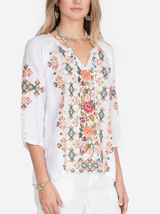 Daily LINEN PEASANT BLOUSE
