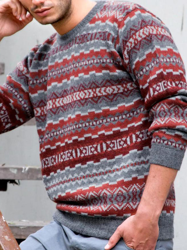 Men 2020 round neck keep warm knit sweater