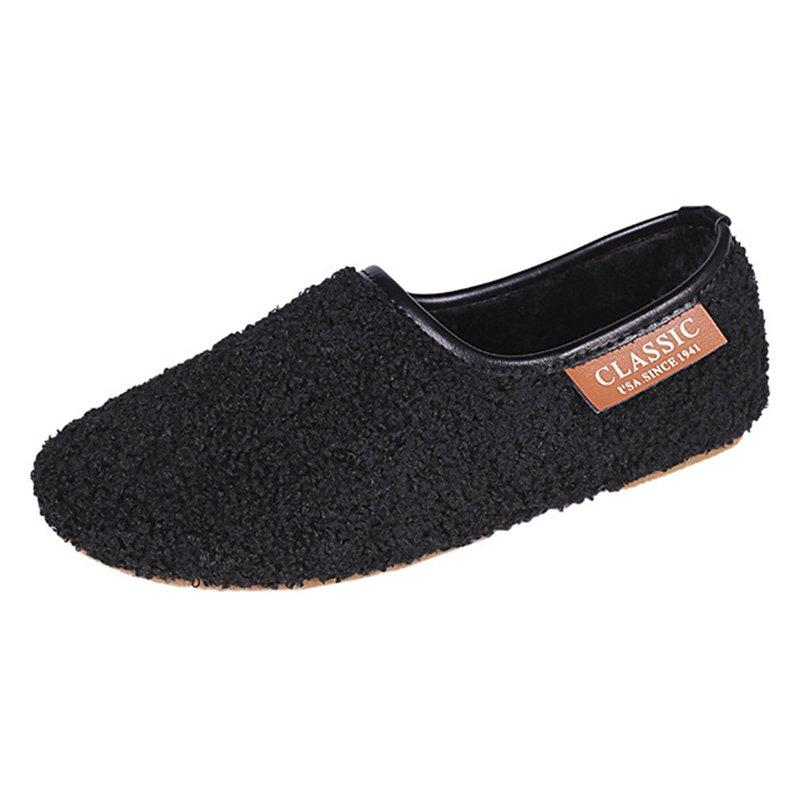 Women's Soft Round Toe Flat Casual Pregnant Winter  Shoes