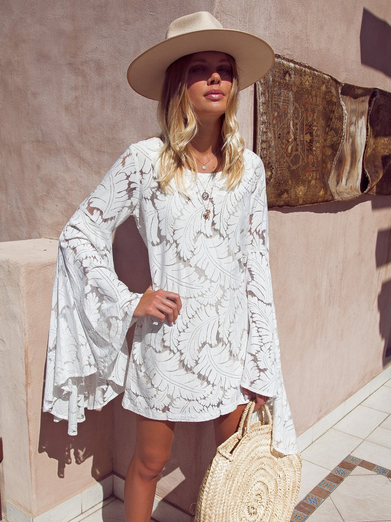 Long Sleeve Casual Crew Neck Dresses