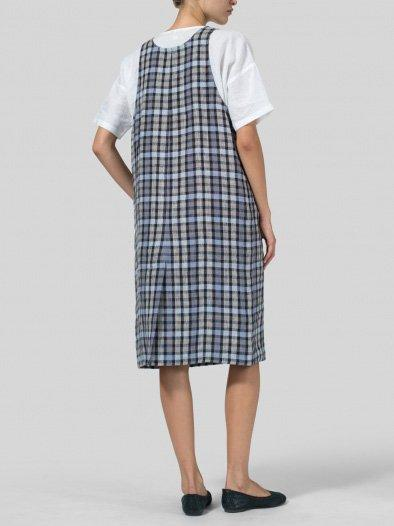 Shift Sleeveless Cotton-Blend Casual Dresses