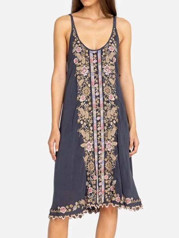 Boho Sleeveless Floral Dresses