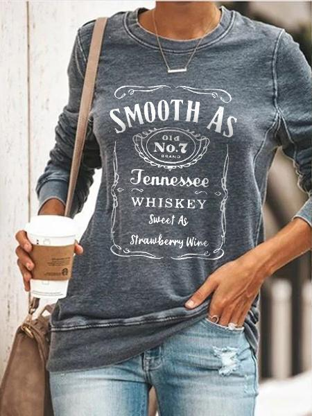 Smooth As Tennessee Whiskey Sweet As Strawberry Wine Pullover