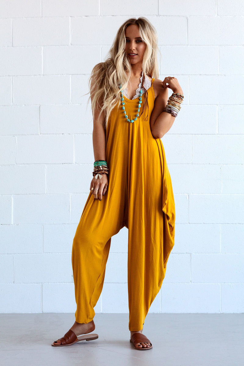 Yellow V Neck Sleeveless One-Pieces