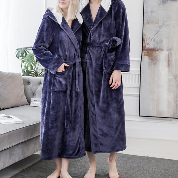 Thicken lovers plian belted pajamas