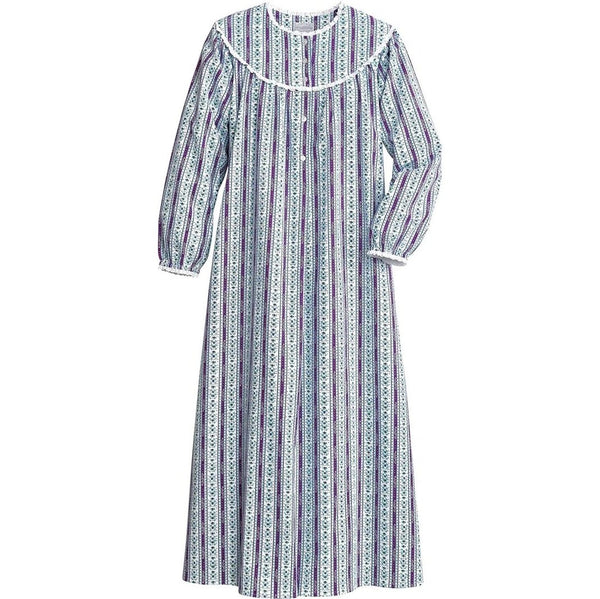 Round neck three colors women printed nightdress