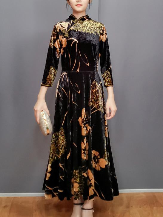 Chinese style elegant loose cheongsam dress