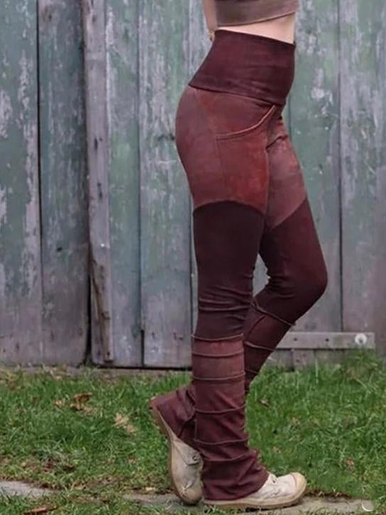Retro elastic women slim bell-bottomed pants