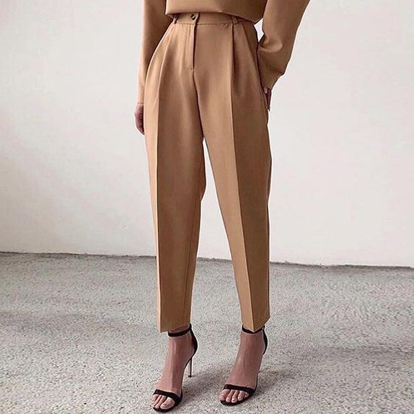 Slim women casual ninth suit pants