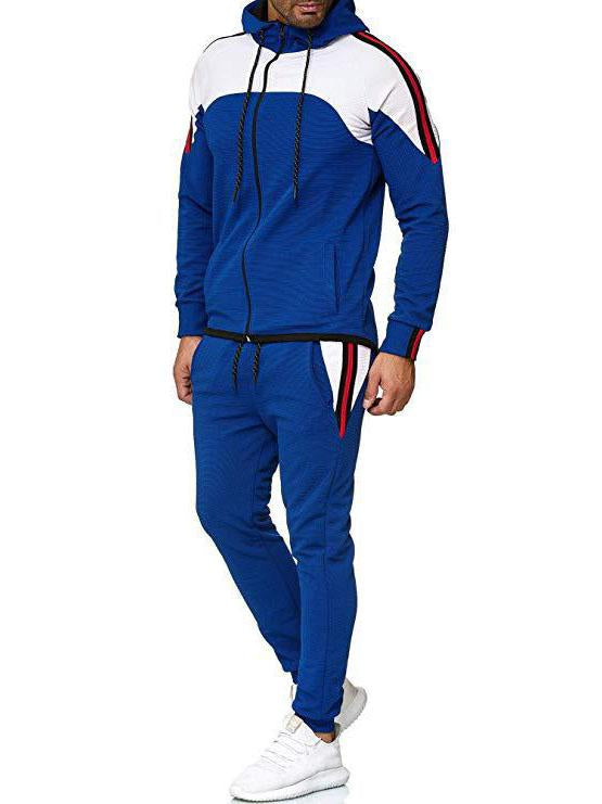 Men multicolor casual sport suit