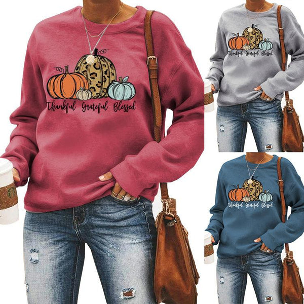 Halloween colorful printed long sleeve top