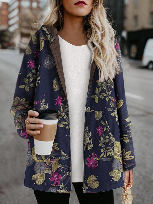 Winter printed thicken coat