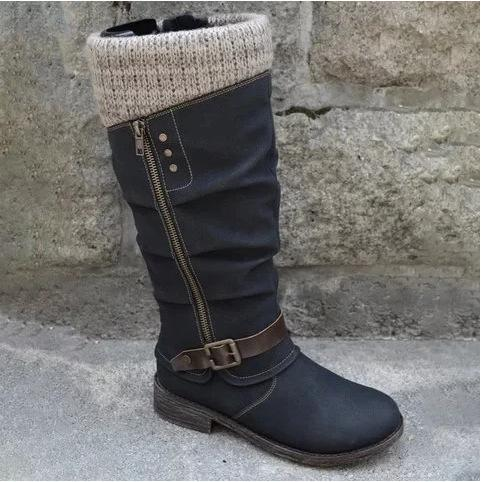 Women antislip boots with zipper
