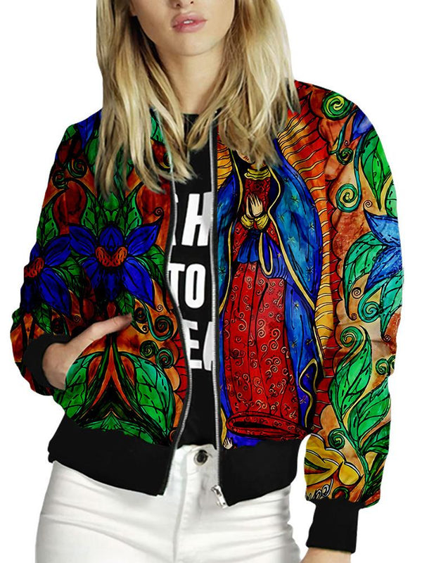 Long sleeve the Madonna printed women jacket