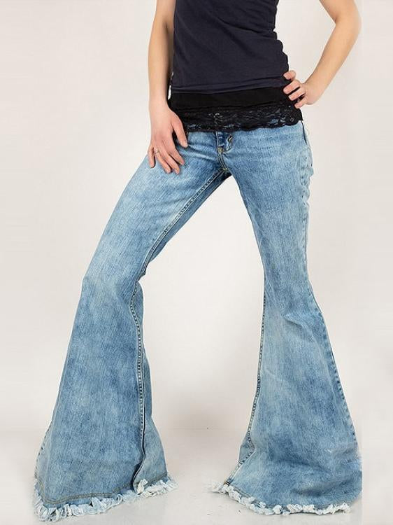 Women denim pockets bloomers