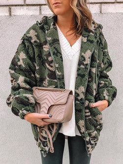 2020 camouflage printed thicken lambelwool coat