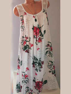 Floral  Shift Casual Women Summer Floral Dresses