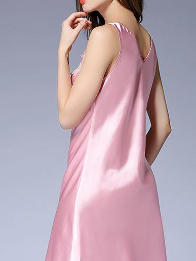 Milk silk belt sexy vest style pajamas